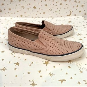 Sperry | Seaside Perforated Blush Pink Sneakers